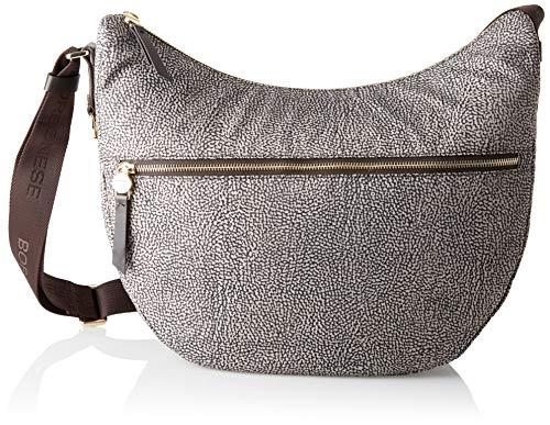 Borbonese Luna Bag, Borsa a Tracolla Donna, (Op Classico/Marrone), 35x38x15 cm (W x H x L)