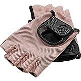 GORILLA SPORTS Fitness-Handschuhe Leder mit Klettverschluss – 2er-Set in Verschiedenen Farb- und Größenvarianten (S, Rosa)