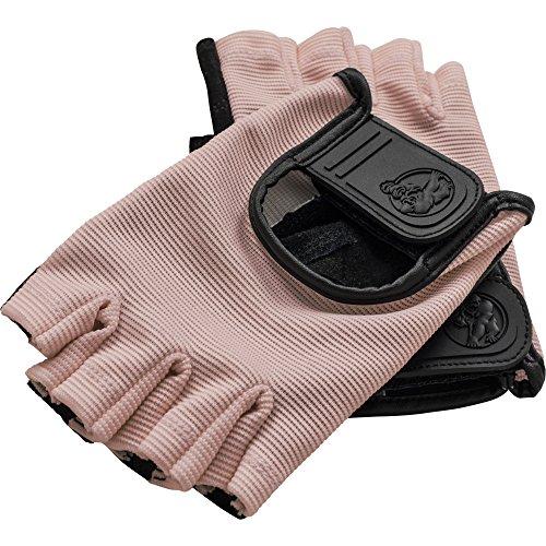 GORILLA SPORTS® Fitness-Handschuhe Leder mit Klettverschluss - 2er-Set Größenvarianten (S, Rosa)