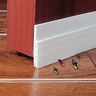 Mishome Selbstklebende Tür Türdichtung Dichtungsstreifen Zugluftstopper gegen Insekt Ersatzdichtung Wetterfest Blocker Schalldichtung Silikon Türstopper 100*5cm (weiß)