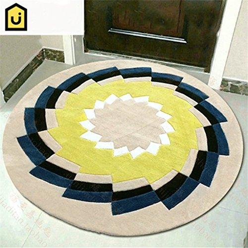 Ultra-moderne-couchtische (ZXH Runder Teppich Ultra Soft Home Stilvolle Wohnzimmer Couchtisch Schlafzimmer Teppich (größe : 200cm))