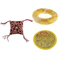 3 Cojines de Seda para Cuenco Tibetano de Canto - Tibetan Singing Bowl Ring Cushion