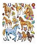Stickerkoenig Wandtattoo 3D Sticker Wandsticker - wunderschöne Pferde, Trophäen, Hufeisen, Schmetterlinge #510 Kinderzimmer Deko auch für Wände, Fenster, Schränke, Türen etc auf Bogen