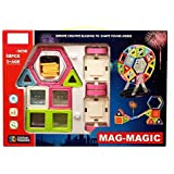Pepperonz Colorful Magnetic 58 Pcs Mag-Magic Infinite Creativity & Brain Development Educational Game Set