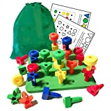 FomCcu Peg Board Building Block Toy for Kids Baby Gifts