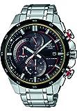 CASIO Herren Chronograph Solar Uhr mit Edelstahl Armband EQS-600DB-1A4UEF
