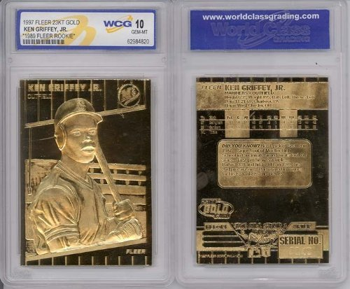 1997Ken Griffey Jr Fleer 23K Gold Rookie Gem mint 10By Baseball -