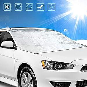 Faltbare Magnetische Glasabdeckung WOOKI Windschutzscheibenabdeckung Frostschutzabdeckung Winterschutz Auto-Windschutzscheibenabdeckung Anti-Schnee-Anti-EIS-Verdickung Autoabdeckung