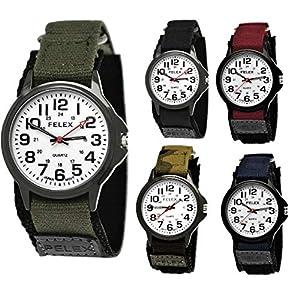 Coole NY London Kinder-Uhr Jungen-Uhr Mädchen-Uhr für Kinder Analog Quarz Textil Nylon Armband-Uhr Schwarz Anthrazit Blau Grün Camouflage Rot Weiß Japanisches Qualitäts Uhrwerk