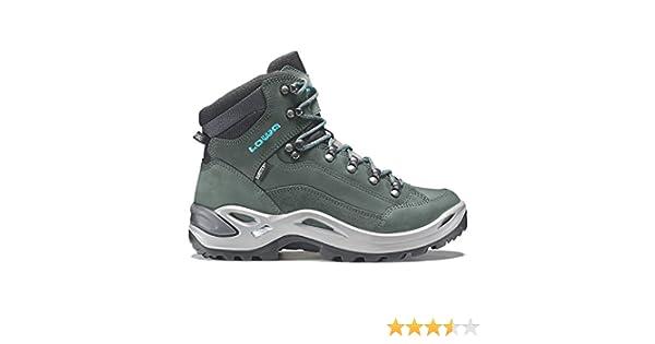 4fe43fe9438fc8 LOWA Renegade GTX Mid Women Outdoor Schuhe anthrazit-türkis - 37   Amazon.co.uk  Shoes   Bags