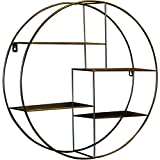 Mode nach Hause ZHILIAN® Wohnzimmer Esszimmer Wand Regal Wand Eisen Trennwand Runde Rahmen Schmiedeeisen Dekorative Wandbehang 50x50cm