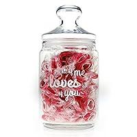 """Il barattolo per caramelle con incisione """"All of me loves all of you"""" - un prodotto di qualità firmato Casa Vivente. A volte c'è proprio bisogno di qualcosa che riempia il cuore di dolcezza! Questo contenit..."""