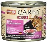Animonda Carny Adult Katzen-/Nassfutter Multifleisch-Cocktail für erwachsene Katzen, (6 x 200 g)