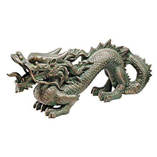 Design Toscano Koi Pond - Figura decorativa en forma de dragón chino