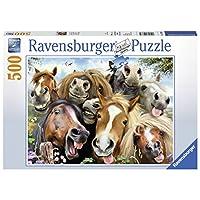 Ravensburger-Erwachsenenpuzzle-14763-Pferde-Selfie-Puzzle Ravensburger 146956 Pferde Selfie, Puzzle - Start -