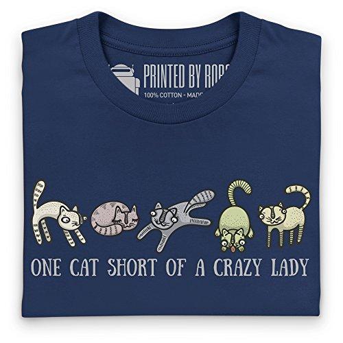 Crazy Cat Lady T-Shirt, Herren Dunkelblau
