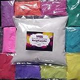 1 KG Rangoli Colour Powder/KOLAM Powder/RANGAVALI MUGGU Powder Set Of 10 Packets 100 GMS Each (GET 500 Grams White Powder Free)