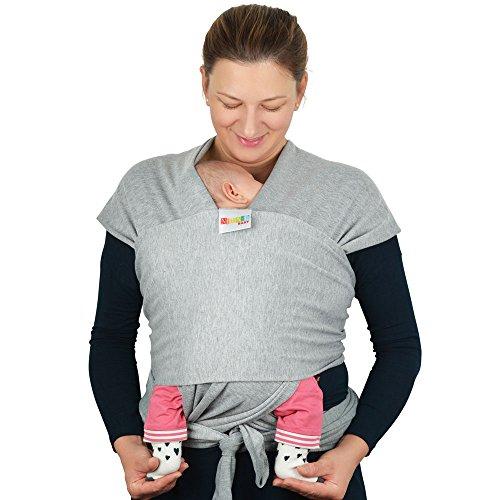 Babytragetuch aus Baumwolle in Premium Qualität | Mehrere Tragepositionen mit diesem weichem und leichtem Tragetuch von Geburt an - 4