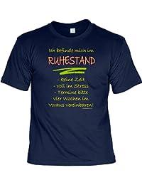 T-Shirt - Befinde mich im Ruhestand - Lustiges Sprüche Shirt als Geschenk für Rentner mit Humor