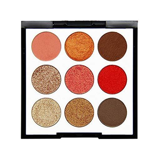WYXlink 9 ColorPearl Glitter Eye Shadow Pulver Palette Matt Lidschatten kosmetische Make-up (C) -