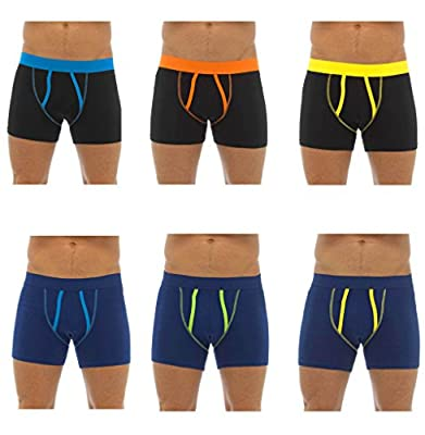 6 Pairs of Mens Tom Franks A-Front Boxer Shorts Underwear Briefs