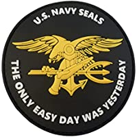 US Marina Navy Seals The Only Easy Day Was Yesterday SOCOM DEVGRU PVC 3D Velcro Toppa Patch
