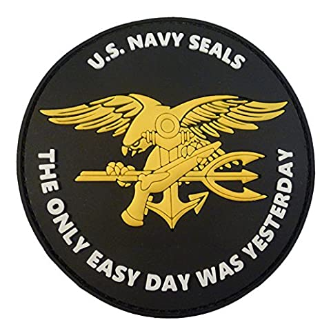 US Navy Seals The Only Easy Day Was Yesterday DEVGRU NSWDG Morale PVC 3D Fastener Patch