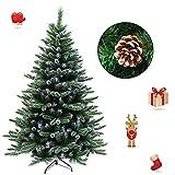 FROADP 180cm Künstlicher PVC Weihnachtsbaum Tannenbaum Kiefernadel Mit Schnee-Effekt