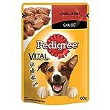 Pedigree mit Rind & Lamm in Sauce | 24x 100g Hundefutter Nass