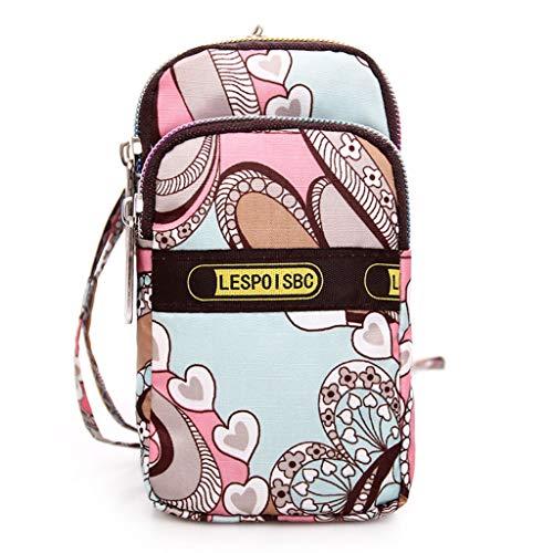 Senoow Crossbody Handy Umhängetasche Tasche Geldbörse Brieftasche Geld Karte Fall Gürtel Handtasche für Frauen Mädchen (#13) (Brieftasche Handtasche Fall)