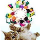 Dorime 10 Giocattoli Pz Cat False Mouse Interactive Mini Funny Animal Giocare Giocattolo per Gatto Gattino