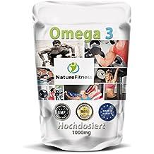 Nature Fitness Cápsulas de Omega 3 1000 mg, 500 cápsulas