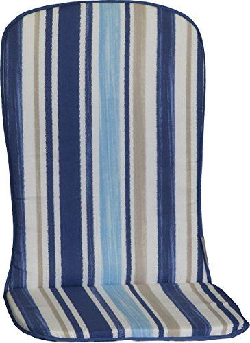 Beo Stuhlauflage Sitzkissen für Stapelstühle Streifen Blau Hellblau Weiss Beige