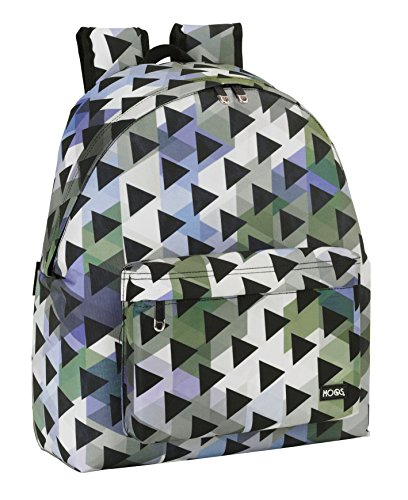 Safta Moos-tot Triangles Mochila, Color Verde