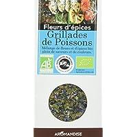 AROMANDISE Fleurs Epices Grillades de Poissons 25 g - Lot de 3
