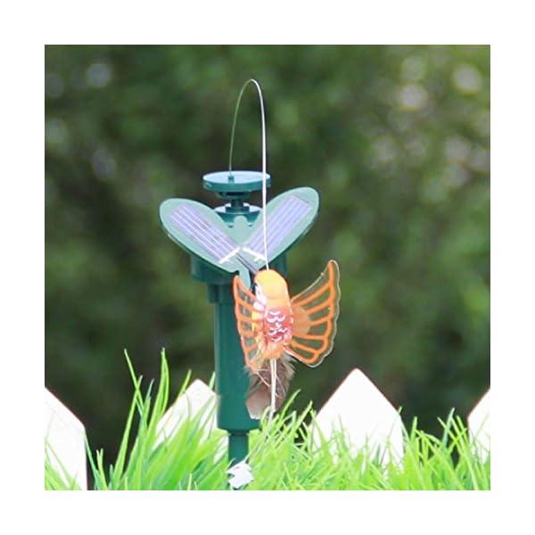 Luwu-Store Beautiful Solar Powered Flying Fluttering Hummingbird Flying Birds DIY Garden Home Decoration Random Style