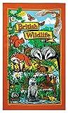 British Wildlife Cotton Tea Towel Fox Owl Squirrell Badger Beaver Gift New UK GB Wild Animals