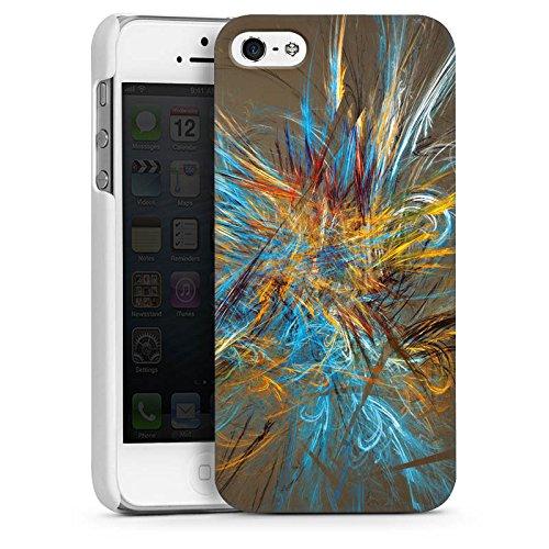 Apple iPhone 4 Housse Étui Silicone Coque Protection Motif Motif Abstrait CasDur blanc