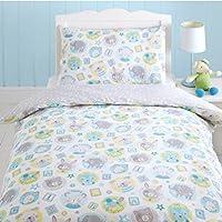 Teddy Bunny Cats Owls Stars Junior Toddler Cot Duvet Cover Quilt Bedding Set