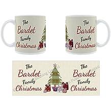 La famille Bardet de Noël–personnalisé Nom Mug en céramique