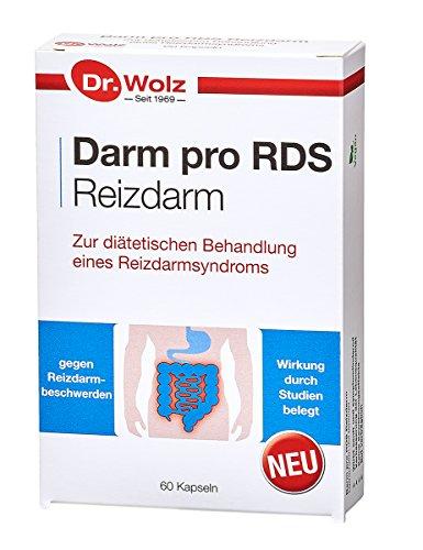 Darm pro RDS Reizdarm Dr. Wolz | Präparat zur Anwendung bei Reizdarmbeschwerden | 60 magensaftresistente Kapseln -