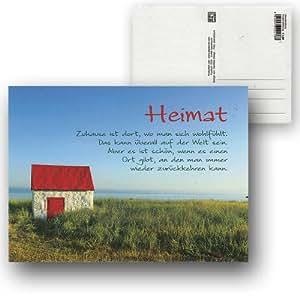 Cartolini Postkarte Karte Spruche Zitate  Cm Heimat Zuhause Ist Dort Wo Man Sich