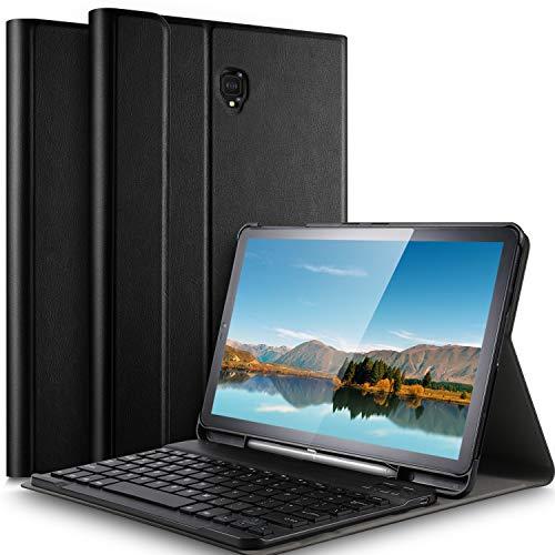 IVSO Tastiera Custodia per Samsung Galaxy Tab S4 SM-T830/T835N 10.5' 2018 [QWERTY English], Slim Custodia con Rimovibile Wireless Tastiera per Samsung Galaxy Tab S4 SM-T830/T835N 10.5' 2018, Nero