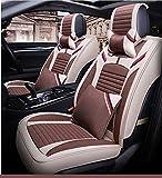Seggiolino auto, seggiolino auto in lino, rivestimento interno traspirante e confortevole, antiscivolo Four Seasons Universal,Brown