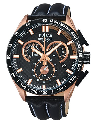 Pulsar Men's Watch XL WRC Chronograph Quartz Leather PX7006X1