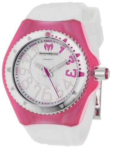 TechnoMarine 110058 - Reloj de Pulsera Mujer, Silicona, Color Blanco