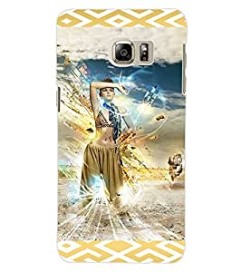 ColourCraft Lovely Girl Image Design Back Case Cover for SAMSUNG GALAXY NOTE 5 EDGE
