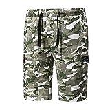 Votre magasin mondial Homme Pantalon Court Décontracté Slim Fit Multi Poches...