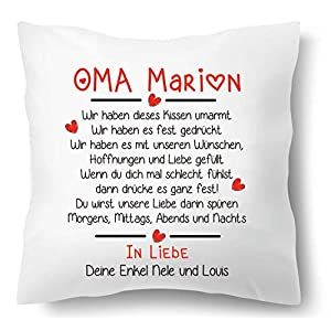 Farbwuselei Oma individuell In Liebe Enkel Namen Geschenk Kissenhülle Inlay
