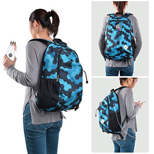 Imagen de vbiger ordenador  portátil oxford computadora hombro bolso casual colegio pantalón con cargando puerto azul  alternativa